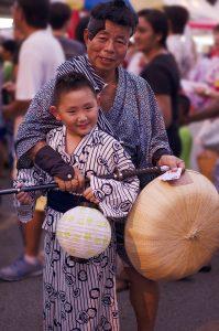 Japaner beim Sommerfest